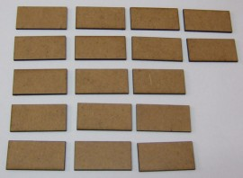 2mm thick MDF 40mm by 20mm bases