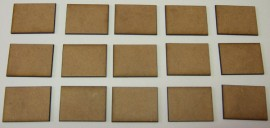 2mm thick MDF 40mm by 30mm bases